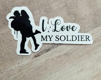 I Love My Soldier Sticker, Army Wife Sticker, Military Stickers