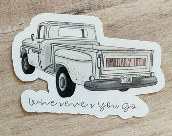 Military Life Sticker |Fall Sticker| Vintage Truck, Military Wife Stickers, Military Gifts, Military Spouse Planner, Military Spouse
