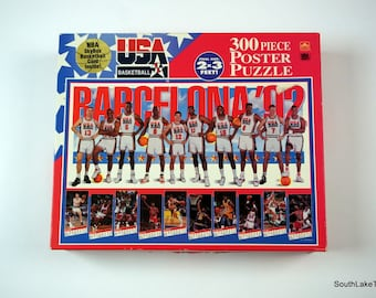 7136affe926c Dream Team USA Basketball 1992 Olympics 300 pc puzzle 2  X 3  COLLECTIBLE