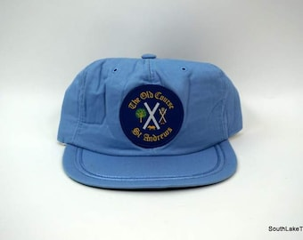 e694879f51ba2 Vintage St. Andrews Scotland Old Course Embroidered Golf Hat Patch Snapback