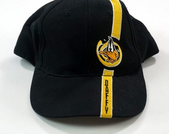 fd32ce62004 Vintage 1998 Looney Tunes Daffy Duck Spellout Snapback Hat Black NWT Adult  OSFA