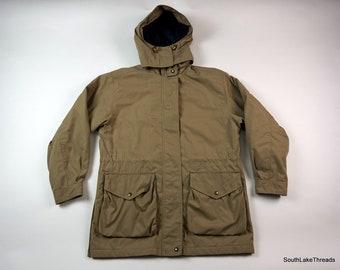 5f5c62b823c73 VTG Lands End Winter Insulated Parka Jacket w  Hood Thinsulate Womens Size  Medium 10-12 Very Warm Beige