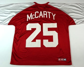 Vintage 90s NHL Detroit Red Wings McCarty Replica Jersey  25 CCM Jersey Sz  Adult XL Hockey Jersey f2465736d