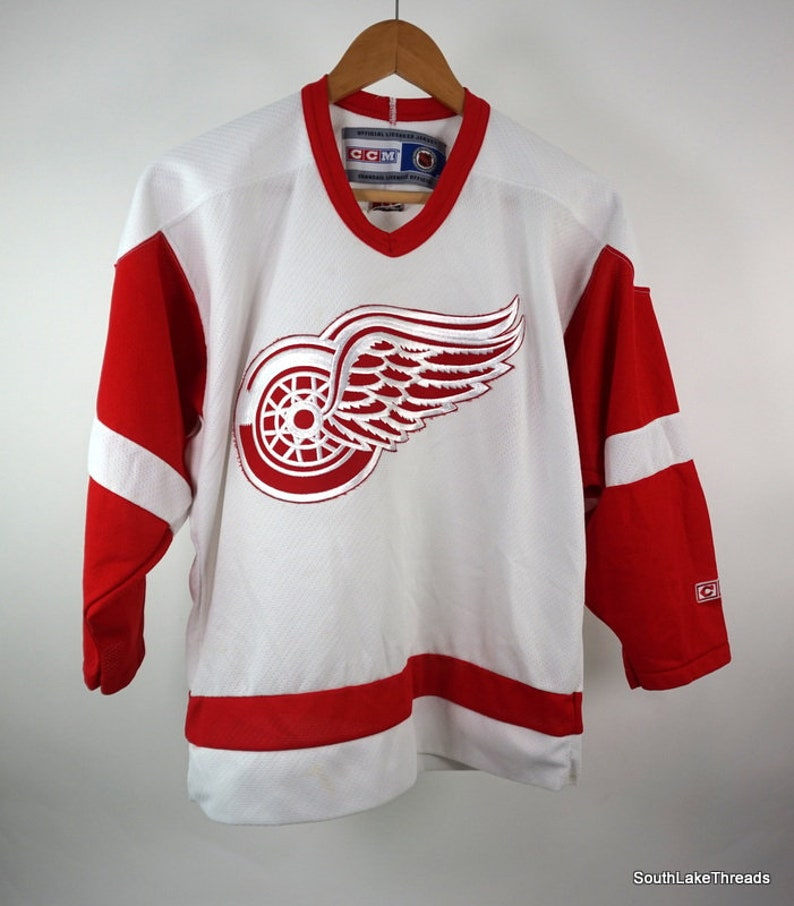 CCM NHL Detroit Red Wings Jersey Youth L/XL White / Red image 0