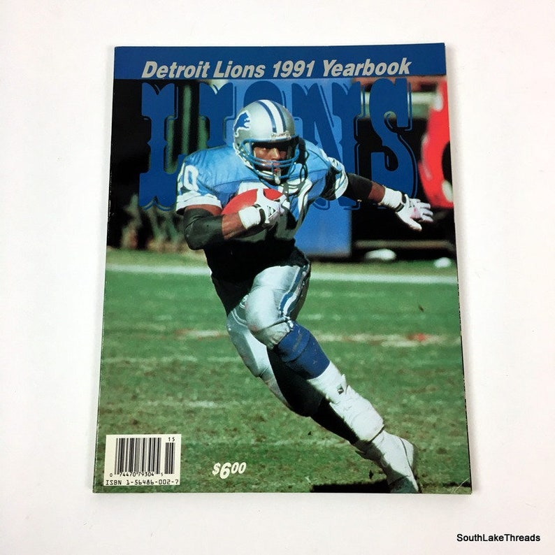 1991 DETROIT LIONS Official Yearbook Football NFL Barry image 0