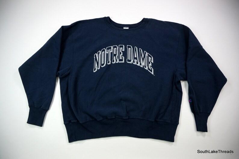 fd6047ae Vintage Men's Champion Reverse Weave Notre Dame Fighting | Etsy