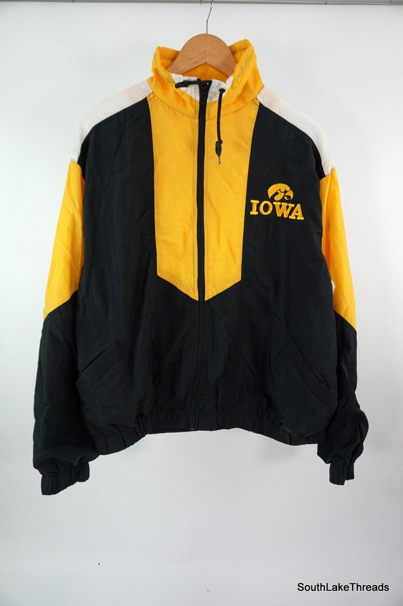 VTG Iowa Hawkeyes Windbreaker Jacket Men's Large Full Zip image 0