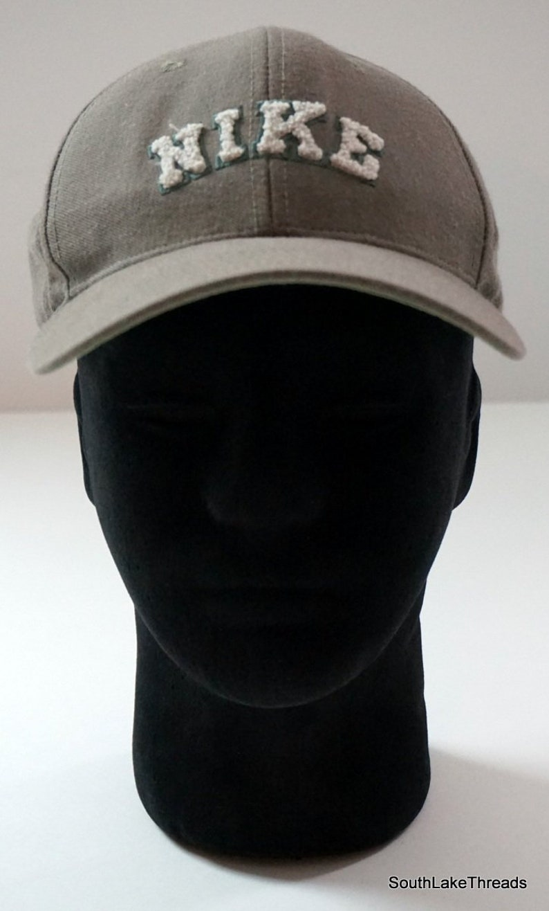 VTG Nike Hat Chenille Script Spellout Logo Adjustable Strap  d687840b8c85
