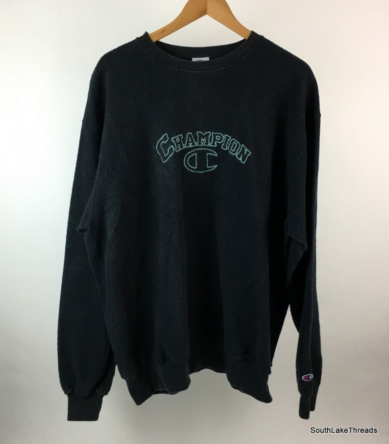 Vintage Champion Fleece Sweatshirt Embroidered Spellout image 0