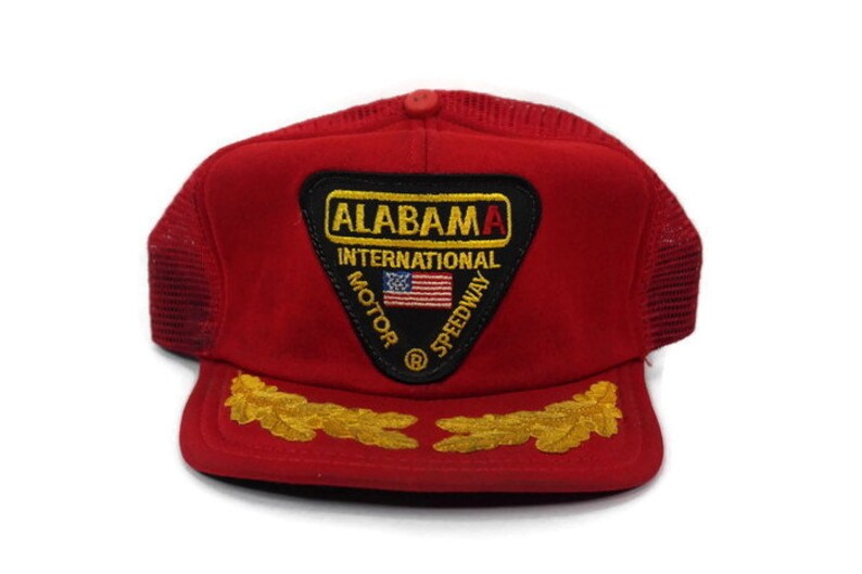 Vintage Alabama International Motor Speedway Red Mesh Snapback image 0