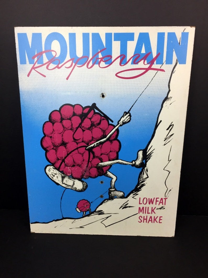 Vintage Mcdonald's Shake Mountain Raspberry Sign Masonite image 0
