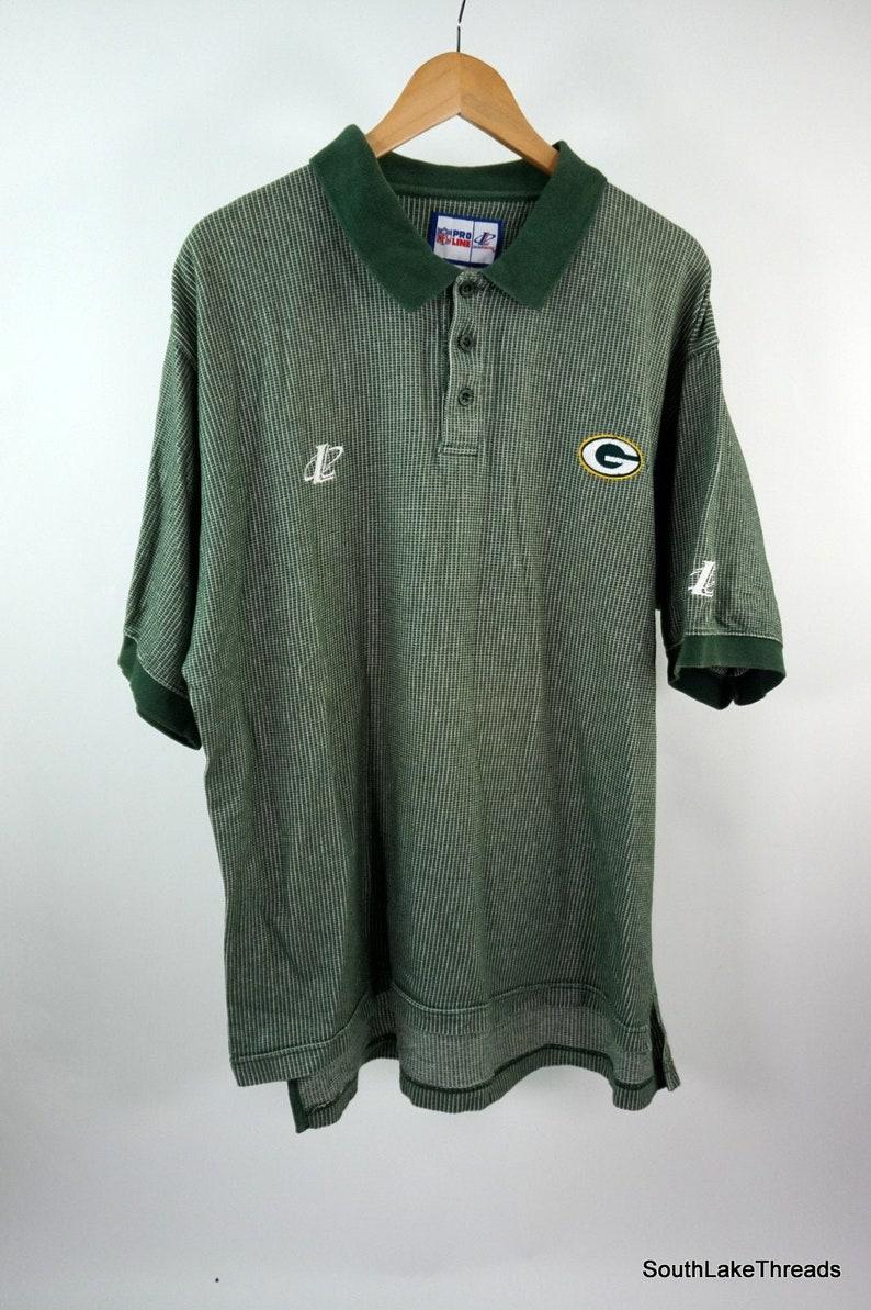 VTG Green Bay Packers Men's Polo Shirt NFL Pro Line image 0