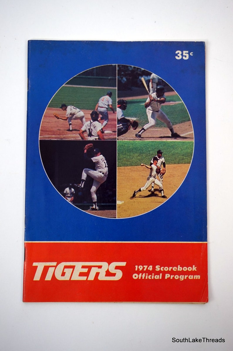 Vintage 1974 Detroit Tigers Baltimore Orioles Official Program image 0