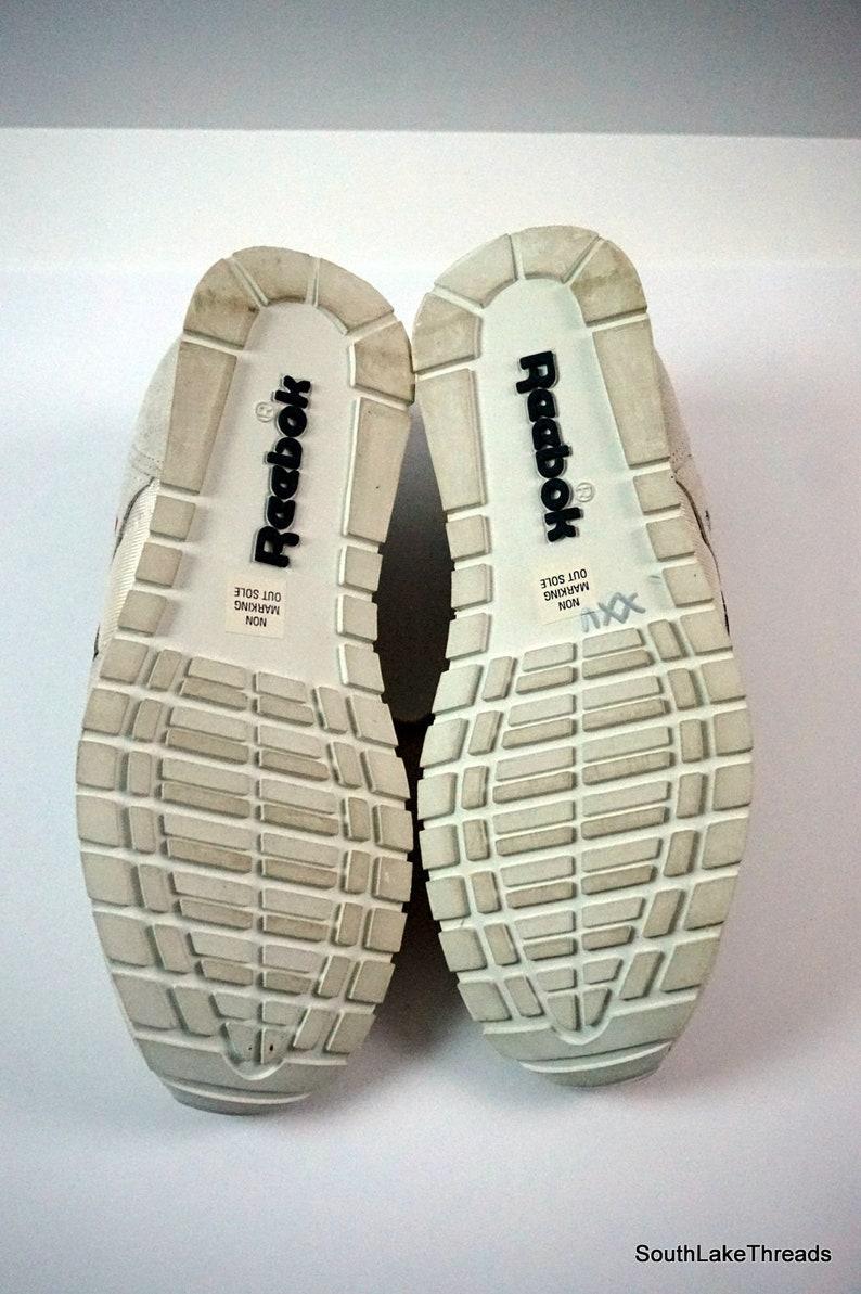 2dcec103c3eda Vintage Reebok Classic Nylon White Grey 10 US 9.5 UK 44 EU