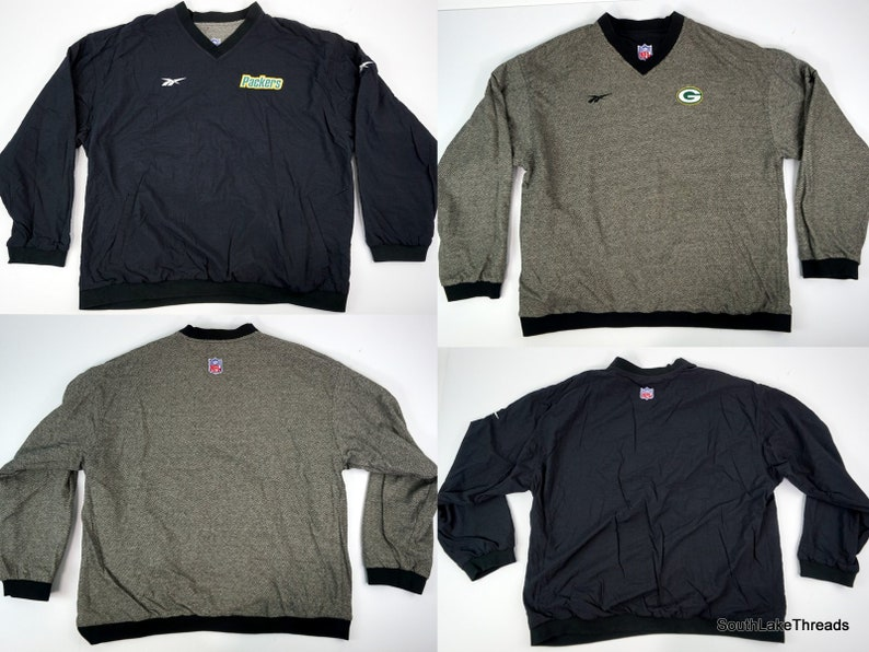 Men's Vintage  Green Bay Packers Reebok Pro Line Pullover image 0