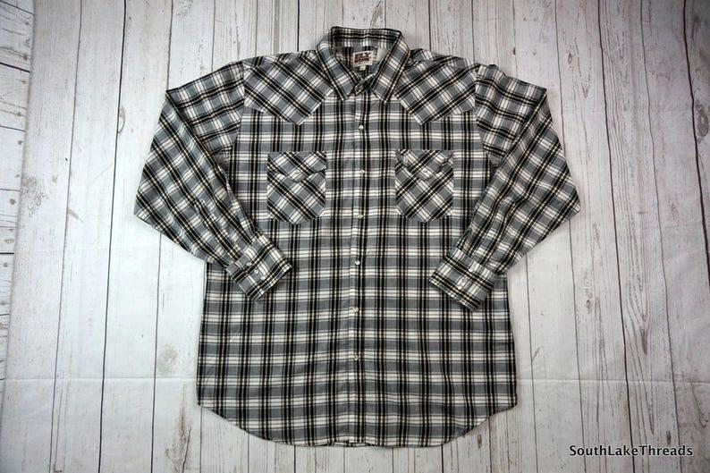 418f69a2d5 Vintage 80s Ely Cattlemen Shirt Men s XL Western Shirt
