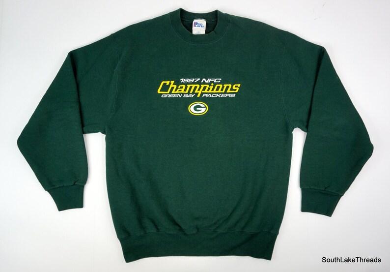 Vintage Green Bay Packers Sweatshirt 1997 NFC Champs Men's image 0