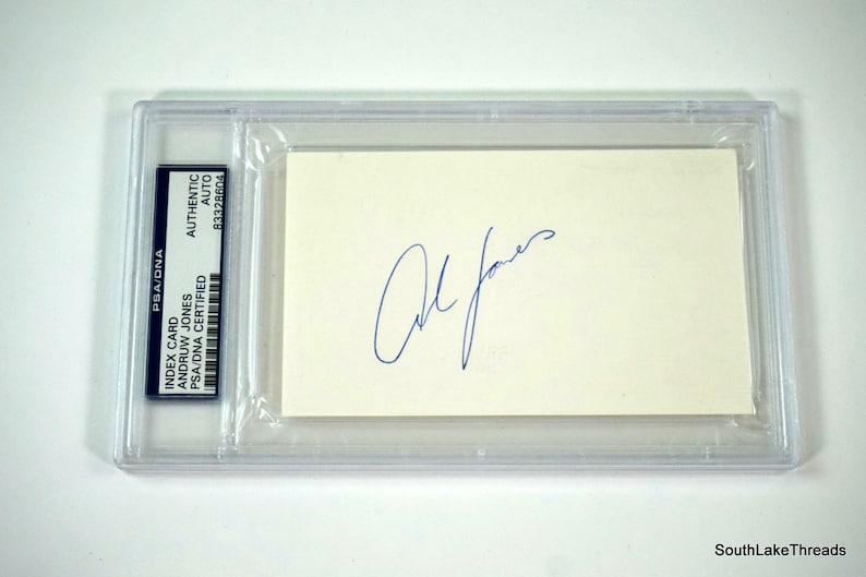Andruw Jones Atlanta Braves PSA/DNA Slabbed Autograph Index image 0
