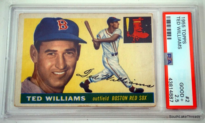 1955 Topps Ted Williams 2 PSA 2.5 Good Boston Red Sox image 0