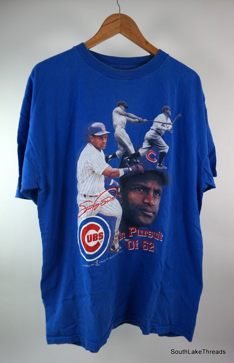 Vintage 1998 Sammy Sosa Chicago Cubs Pursuit of 62 HR's image 0