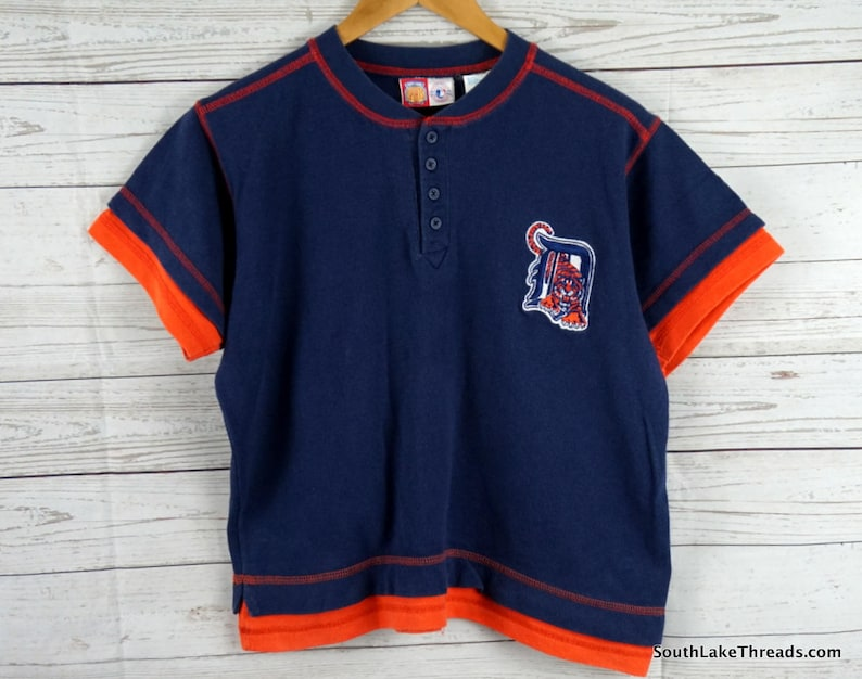 low priced 06065 e6236 Vintage Detroit Tigers Jersey Youth Boys Large 14/16 by Professional Sports  Club Old English D, Detroit Tigers Baseball, Michigan Boys L