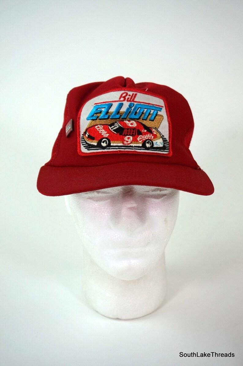 d0fe1c229 VTG USA MADE Trucker Hat Snapback Cap Patch Pin Coors Bill Elliott Nascar  Racing