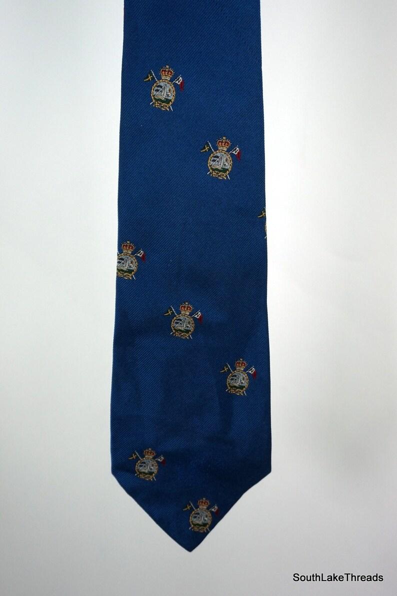 VTG Polo Ralph Lauren Silk Neck Tie Silk Crest Logo High image 0