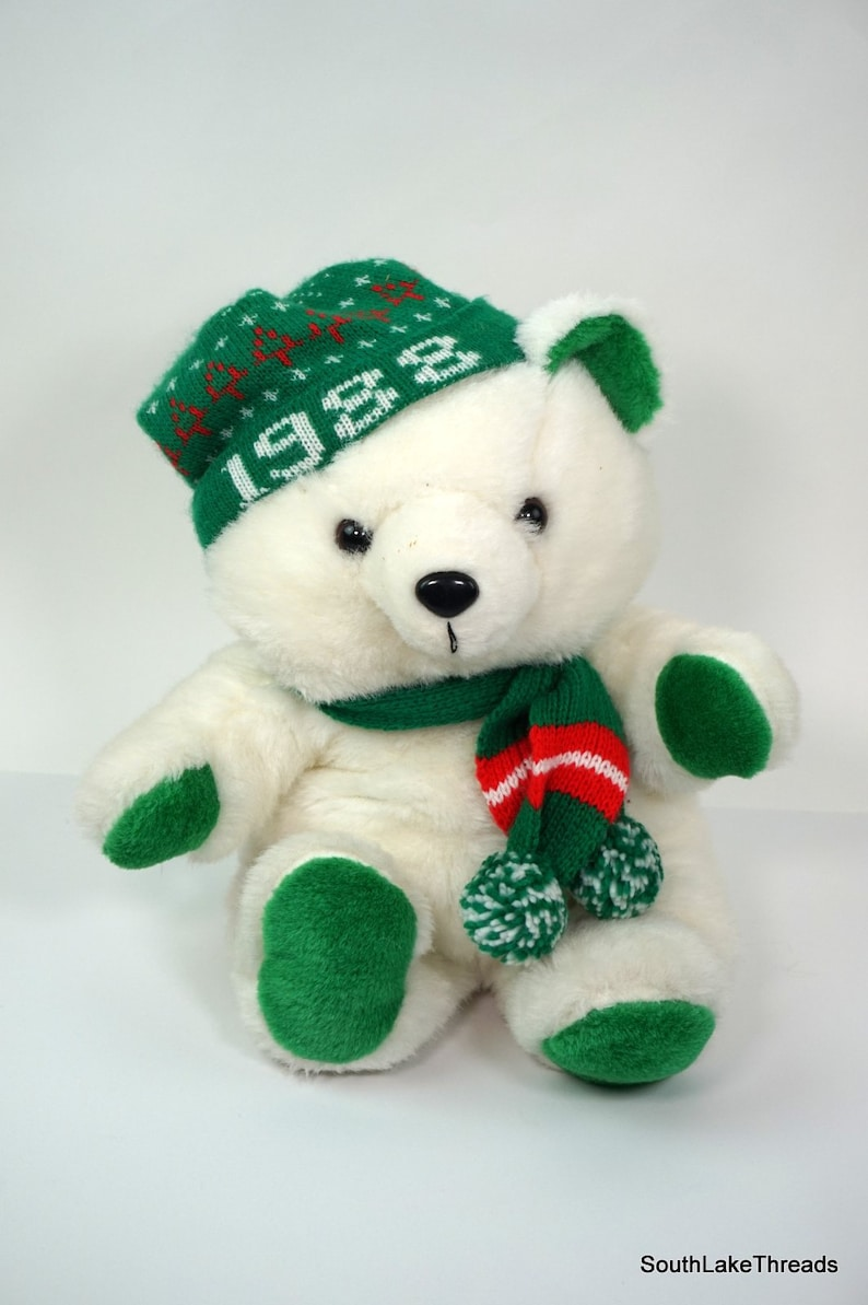 1988 KMART Christmas Bear by KMART 1986 Stuffed Animal Teddy image 0