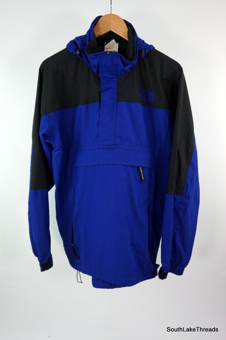 VTG The North Face Blue And Black Mountain Guide Sz Men's image 0