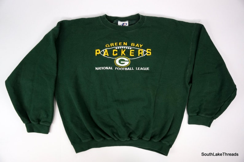 Men's Green Bay Packers Logo Athletic Embroidered Crewneck image 0