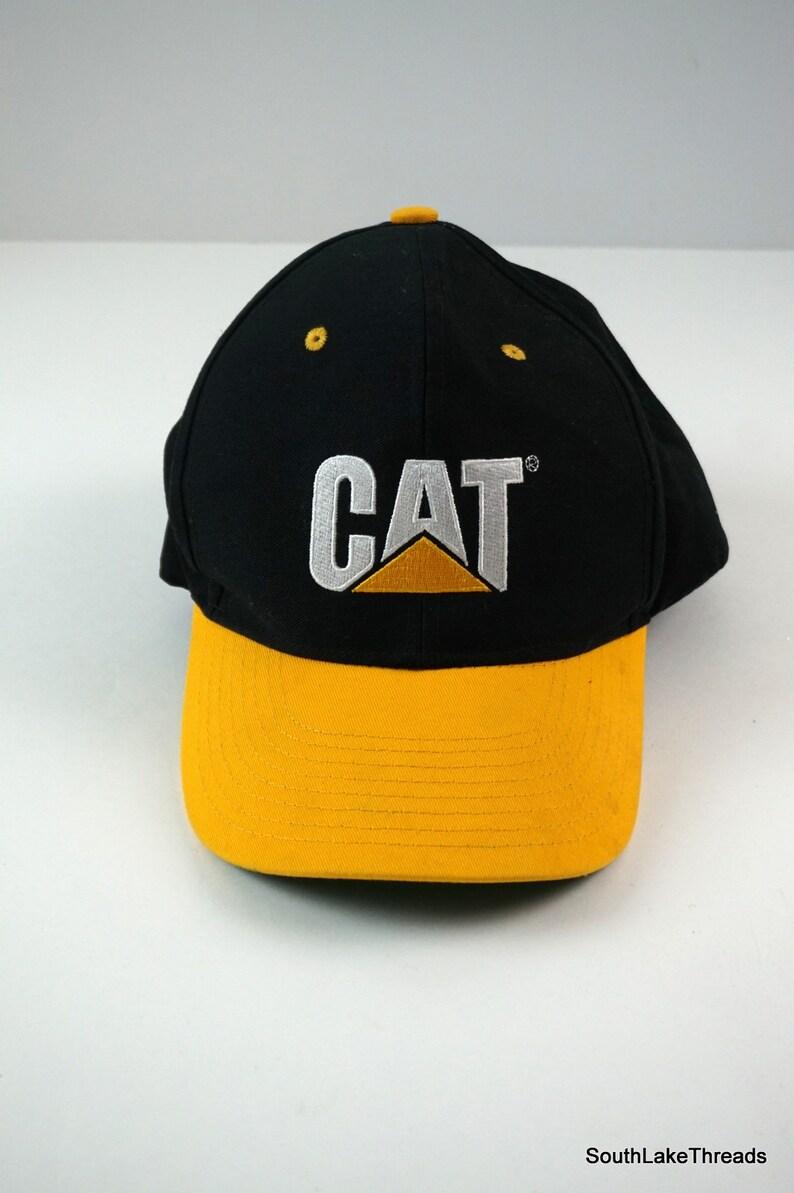 fd54c715a18 Vintage Caterpillar CAT Equipment Snapback Cap Hat Black