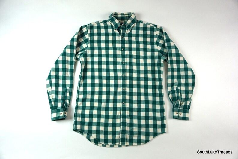 Vintage Men's Lands End Long Sleeve Plaid Button Front image 0