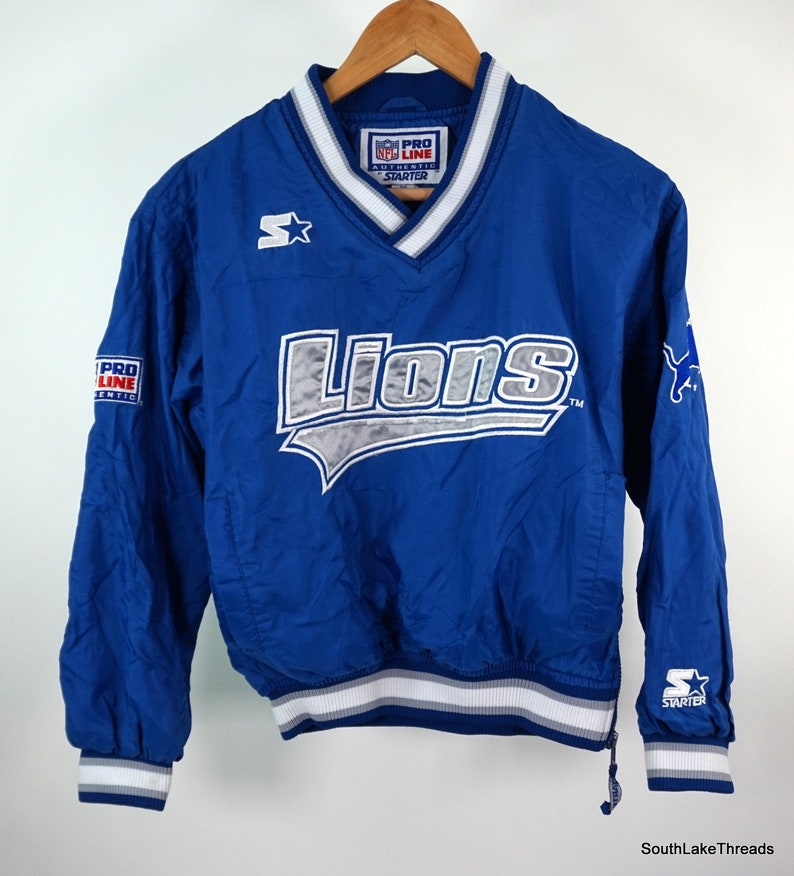 Detroit Lions Starter Spellout NFL Pro Line Pullover Boys image 0