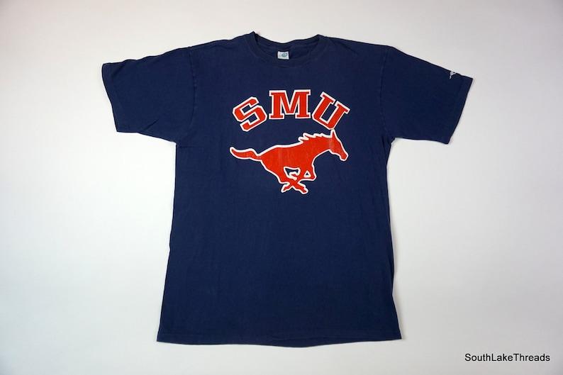 5286acbe Vintage Men's Artex SMU Mustangs T-Shirt USA Southern | Etsy