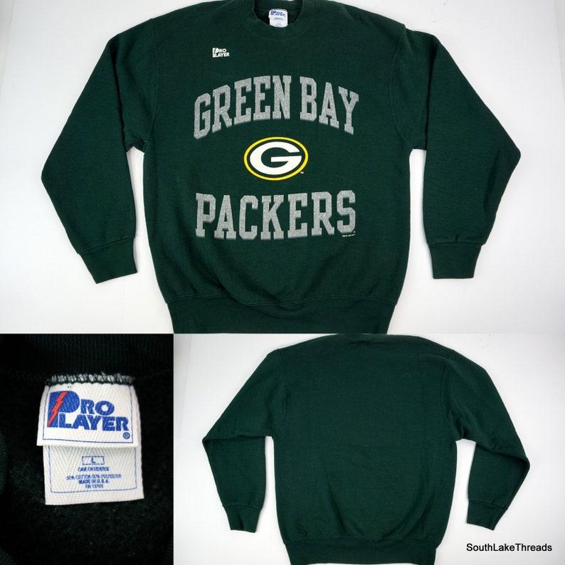 Vintage Green Bay Packers Sweatshirt Men's Large Pro image 0