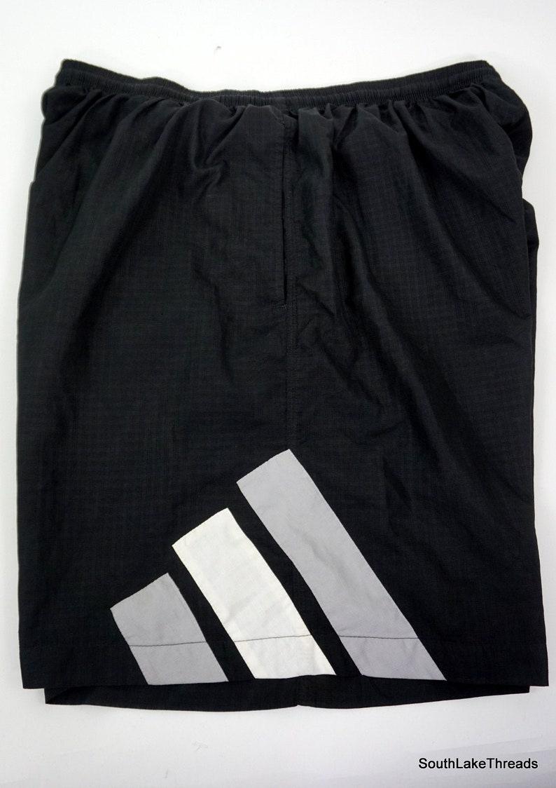 Vintage Adidas Big Logo Spellout Shorts Sz Men's XXL Black image 0