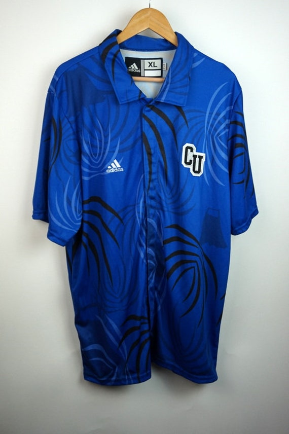 eafc7bb25090 Vintage 90s Adidas CU Basketball Warm Up Snap Away Button Up