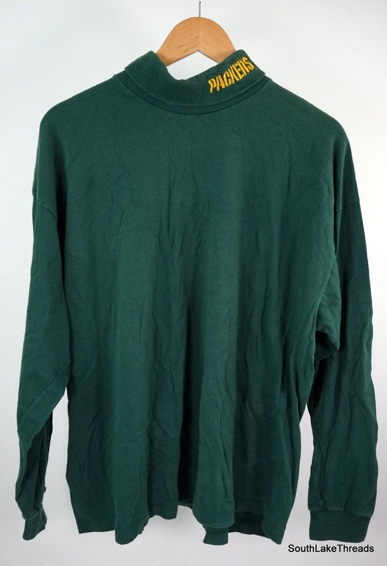 Green Bay Packer Turtleneck Men's Extra Large XL Long image 0