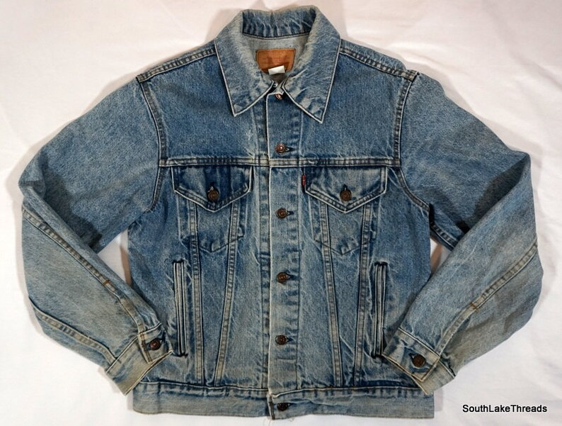 Vintage Levi Strauss Levi's Denim Jacket Tab Button Snap image 0