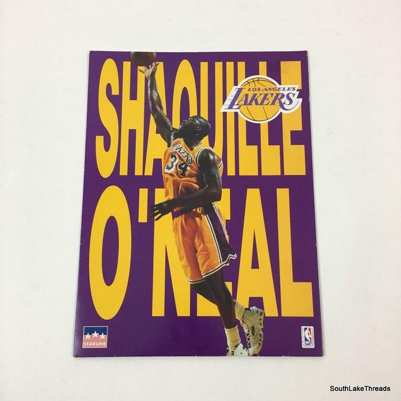 Vintage 1997 Shaquille O'Neal Shaq School Folder LA Lakers image 0