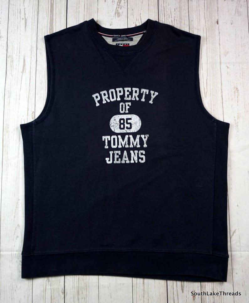 56c8f8b0 Vintage 90s Tommy Hilfiger Sweatshirt Sleeveless Men's | Etsy