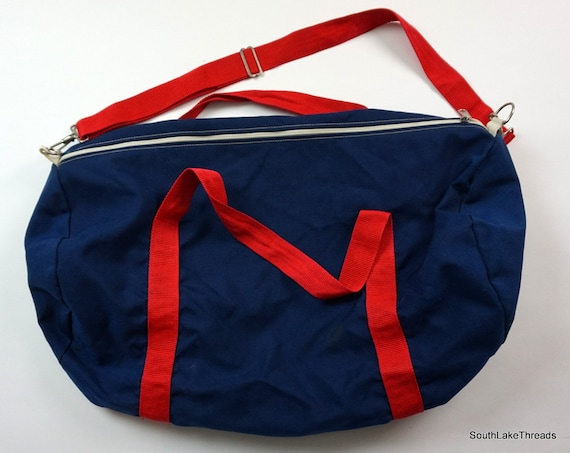 865a9b4d97d8 Vintage USA Basketball Gym Bag Duffle Bag Navy Blue Red