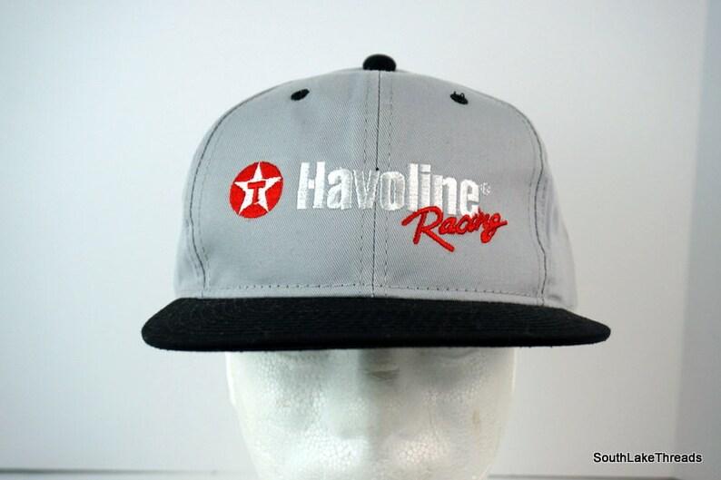 Vintage Texaco Havoline Racing Snapback Hat With Pin Grey image 0