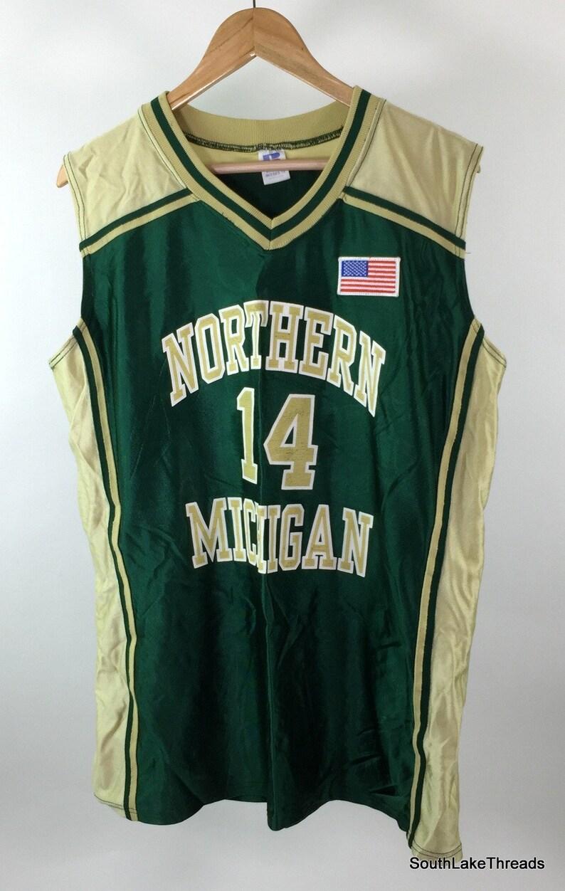 Vintage 90s NMU Northern Michigan Wildcats Basketball Jersey image 0
