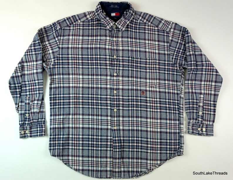 Vintage 90s Tommy Hilfiger Button Down Long Sleeve Shirt image 0