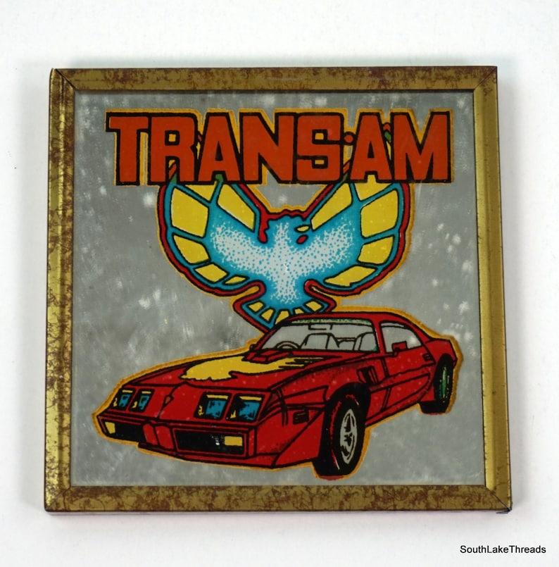 Vintage 70s Small Trans Am Plaque Framed Mirror Rare 4 image 0