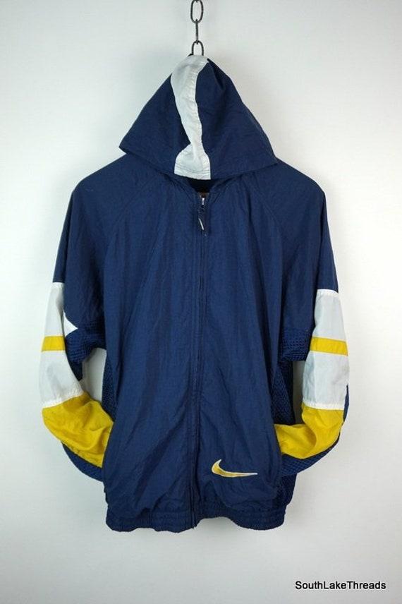 fc2efca806a8 Vintage 90s Nike Air Heavy Lined Hooded Windbreaker Jacket