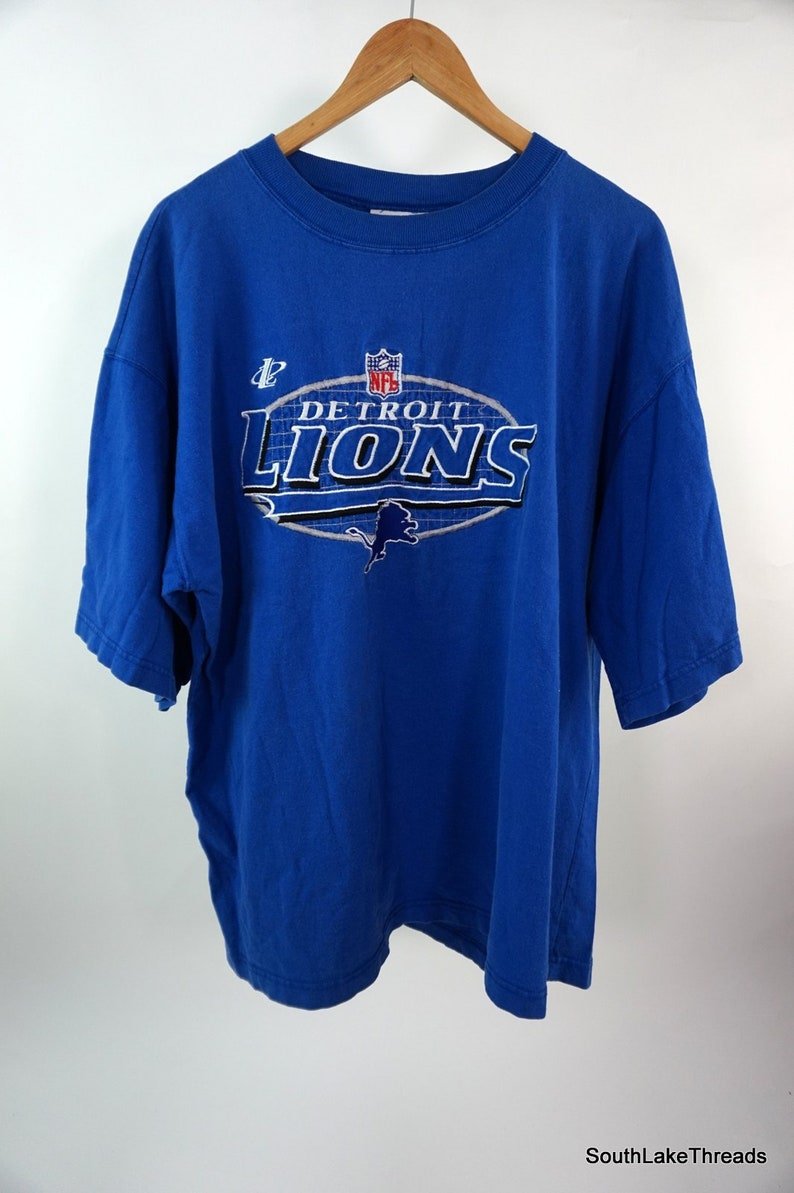 VTG Men's Logo Athletic Detroit Lions T-Shirt Fully image 0