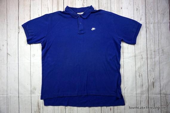 Vintage 80s Nike Polo Shirt Men s XL Extra Large Royal  7acfe725e