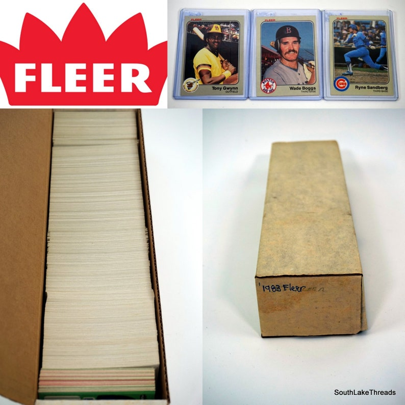 1983 Fleer complete set 660 cards Tony Gwynn Boggs image 0